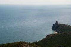 podpalany Baikal jezioro Zdjęcia Royalty Free