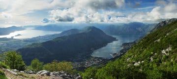 podpalany boka kotor Montenegro widok Zdjęcie Royalty Free