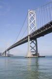 podpalany bridżowy Francisco Oakland San Fotografia Royalty Free