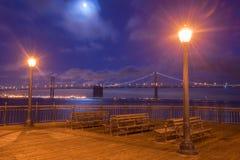 Podpalany Bridżowy widok od mola 7, Kalifornia Zdjęcie Stock