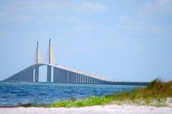 podpalany bridżowy skyway światło słoneczne Tampa Zdjęcia Royalty Free
