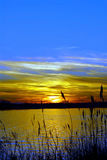 podpalany chesapeake Maryland zmierzch Fotografia Stock