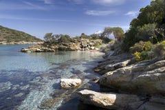 podpalany Corsica morze Zdjęcie Royalty Free