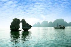 podpalany halong Vietnam Obrazy Royalty Free