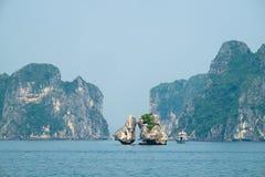 podpalany halong Vietnam Obraz Royalty Free