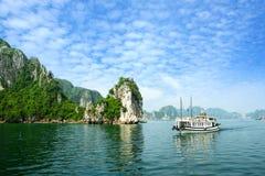 podpalany halong Vietnam Obraz Stock