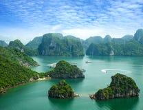 podpalany halong Vietnam Obrazy Stock