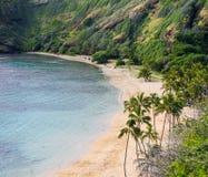podpalany hanauma Hawaii Oahu Fotografia Stock