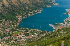 podpalany kotor Montenegro Zdjęcie Stock