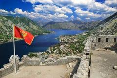 podpalany kotor Montenegro ranek czas Obraz Royalty Free