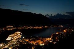 podpalany kotor Montenegro ranek czas Fotografia Royalty Free