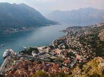 podpalany kotor Montenegro ranek czas Obrazy Royalty Free