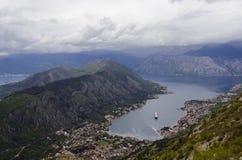 podpalany kotor Montenegro ranek czas Zdjęcie Royalty Free