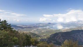 podpalany kotor Montenegro widok Fotografia Stock