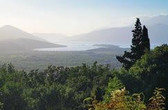podpalany kotor Montenegro widok Obraz Royalty Free
