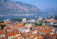 podpalany kotor Montenegro widok Fotografia Royalty Free