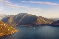 podpalany kotor Montenegro widok Montenegro Fotografia Stock