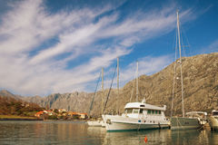 podpalany kotor Montenegro widok Montenegro Zdjęcia Royalty Free