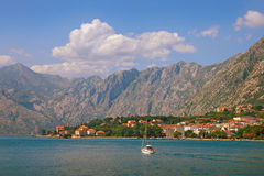 podpalany kotor Montenegro widok Montenegro Obrazy Royalty Free