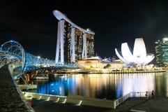 podpalany marina Singapore Zdjęcia Stock