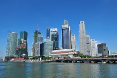 podpalany marina Singapore Zdjęcie Royalty Free