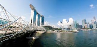 podpalany marina Singapore Zdjęcia Royalty Free