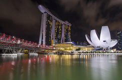podpalany marina Singapore Obrazy Royalty Free