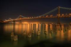 podpalany most zdjęcie stock