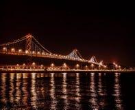 Podpalany most przy obrazy stock