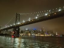 Podpalany most w światłach Obraz Royalty Free