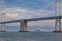 Podpalany most w San Fransisco, Kalifornia, pokazuje Obrazy Stock