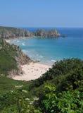 podpalany plażowy Cornwall England Fotografia Royalty Free