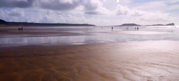 podpalany plażowy rhossili Zdjęcie Stock