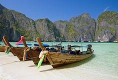 podpalany sławny wyspy leh majowia phi Zdjęcia Royalty Free