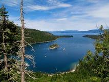 podpalany szmaragdowy jeziorny tahoe zdjęcia stock
