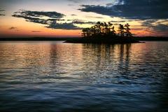 podpalany wschód słońca Obrazy Stock