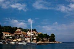 podpalany wyspy kerkira morze Fotografia Royalty Free