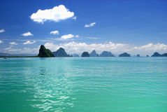 podpalany wyspy nga phang Zdjęcie Royalty Free