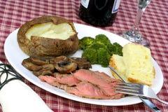 podpieka London obiadowego stek fotografia stock