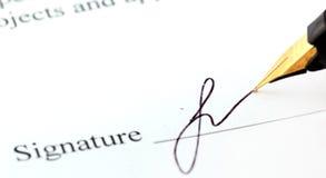 podpis Obraz Stock
