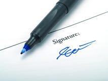 podpis Zdjęcia Stock