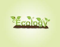podpis ekologii ilustracja wektor