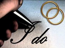 podpisanie i Fotografia Stock