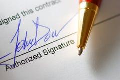podpisanie umowy Obrazy Stock