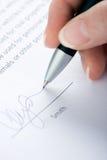 podpisanie umowy Fotografia Stock