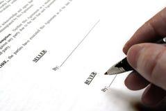 podpisanie umowy zdjęcie stock