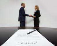 podpisano umowy Fotografia Stock