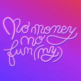 Podpisuje Żadny pieniądze żadny śmieszna ikona dla twój sieci, etykietka, ikona, dynamiczny projekt Ręka rysujący sztuka elementy zdjęcia stock