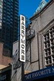 Podpisuje dla sławnego Barrymore teatru w teatru okręgu Manhattan Miasto Nowy Jork zdjęcie royalty free
