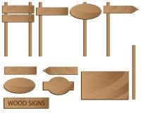 podpisuje drewnianego Zdjęcie Stock